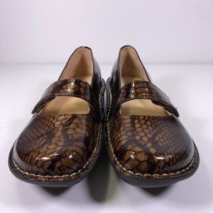 Alegria Feliz Mary Jane Leather Patent Snakeskin